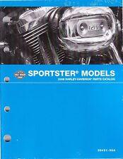2008 Harley Sportster 883 1200 XL883 XL1200 Parts Part Manual Catalog 99451-08A