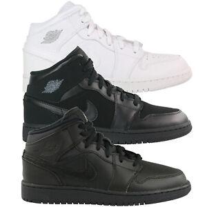 Nike Air Jordan 1 Mid (gs) Chaussures Sneaker Basket Jeunes Filles 554725-afficher Le Titre D'origine