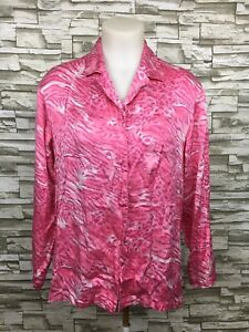 a908e1ba25d09 Victoria s Secret 100% Silk Long Sleeve Button Up Zebra Print Pajama ...