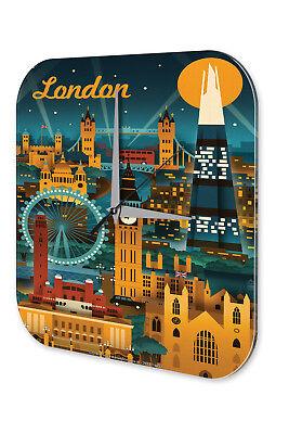 Orologio Da Parete Decorazione Città Londra Acrilico Dekouhr Vintage Retrò-