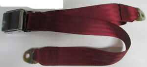 """Wine Red Seat Belt 2 Point Non Retractable Red Lap Seat Belt 74/"""""""