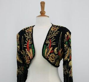 Jasdee Vintage Bolero Jacket Hand Work Beading On Silk Style 2066