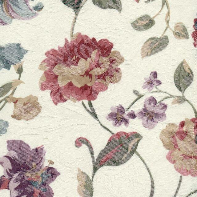 Tischdecke tischläufer 40x150 cm Blumenmotiv Rosen Lilien Jacquard pflegearm