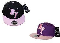 I Z Co YOUTH  KIDS 3D NY Block New York SNAPBACK Flat Peak Cap Hat Snap Back