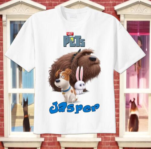 Tee Secret Life of Pets Custom T-shirt Personalize tshirt Birthday gift