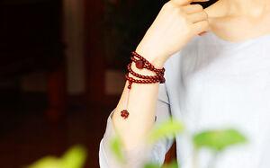 S@Collectibles Real India lobular Sandalwood 108 Prayer Beads Lady Bracelets 6mm