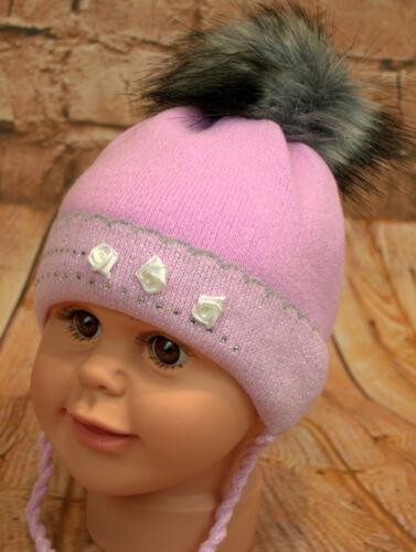 Wintermütze Baby Babymütze Kindermütze Mütze Bommelmütze neu Größe 36-38