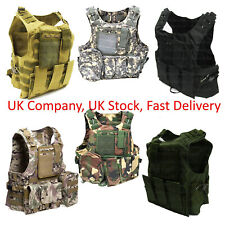 Adjustable Military Tactical Vest Airsoft Paintball / Molle / Plate Holder