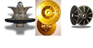 "1 1/4"" Full Bullnose Router Bit 5"" Convex blade grinding cup granite concrete"
