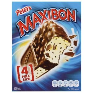 Peters Maxibon Vanilla 4 pack 620mL