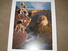 GATHERING STORM  BY TOM MANSANAREZ  MOUNTAIN LION AND HOUND  PRINT