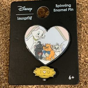 Disney Trading Pins Loungefly Aristocats I Love You U Love Me Spinner Pin NEW