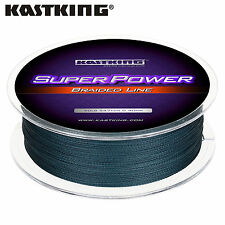 KastKing SuperPower 15 lb test Braided Fishing line (330 yds) - Low-Vis Gray