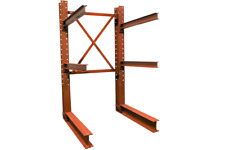 Used Cantilever Structural I Beam 16 Tall Lumber Rack Steel Rack Tree Rack