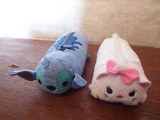 Disney Tsum Tsum Stitch Marie Aristocat pencil case soft plush toy figure bag
