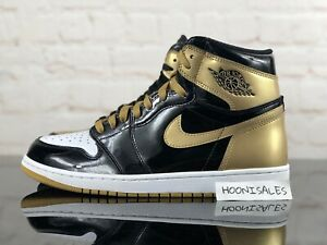 cheap for discount 6cb7e 0d5fd Details about Nike Air Jordan 1 Retro High OG NRG Gold Top 3 Black Gold  861428 001 Size 10.5