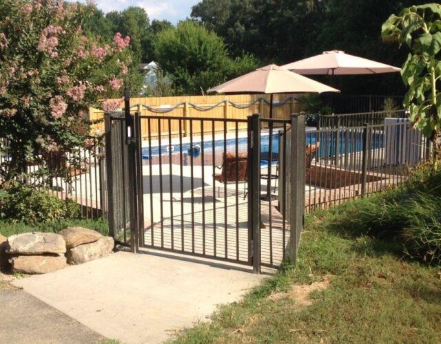 Black Aluminum Fence 4 Ft X 6ft Embled Panel Pool Code