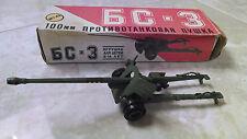 Vintage Russian WWII Metal Army Tank Toy w/ Original Box GC - 3 M1:43