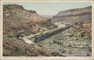 "USA ARIZONA SANTA FE TRAIN IN CROZIER CANYON 14947 RAILWAYS ED. ""POSTINT"""