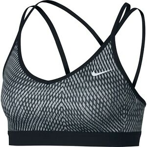 New-Nike-Strappy-Light-Support-Sports-Bra-Crossfit-Gym-Solid-Running-Sz-XS