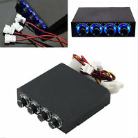 3.5inch PC HDD CPU 4 Channel Fan Speed Controller Led Cooling Front Panel FE