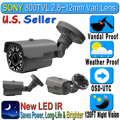"""1/3"""" HDIS 960H 800TVL 2.8-12mm Weather Proof In/Outdoor Bullet CCTV Camera Night"""
