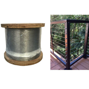 1x19 Construction Type 316 Steel 250 ft of 18 Stainless Cable Wire Railings