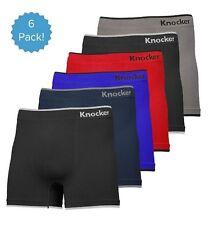 6 Mens Microfiber #MS02 Boxer Briefs Underwear Seamless Compression One Size