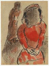 Chagall : Thamar. - Farblithographie (Chagall, Bibel I, 1956)