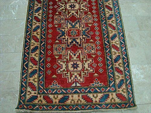 Super Kazak Geometric Veg Dyed Mahal Hand Knotted Knotted Knotted Runner Rug (11.9 x 2.8)' a394b4