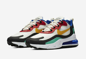 Details about Nike Men's Air Max 270 React Bauhaus Phantom University Red Gold AO4971 002
