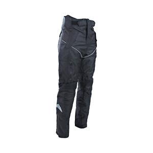 Motocicletta-Impermeabile-Nero-Cordura-Tessuto-Pantaloni-Ce-Armours