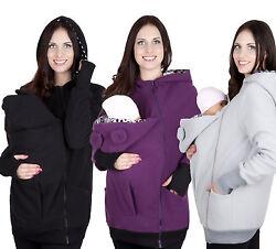 Mija / Tragejacke Umstandsjacke Fleecepullover für Tragetuch Tragepullover 4019