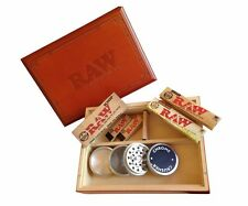 Large Raw Special Wood Rolling Box (7 Items Bundle) 4pc Grinder, Paper, Scoop