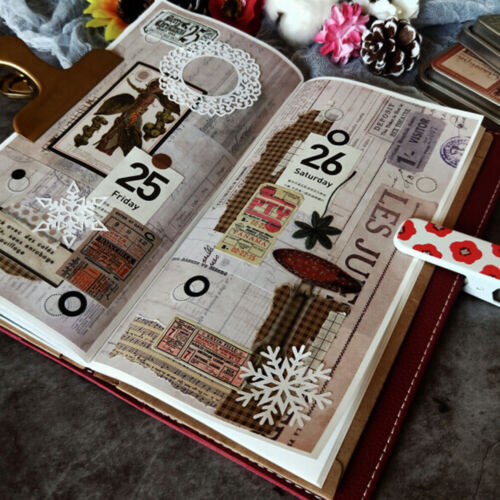 22Pcs//pack Vintage ticket stickers scrapbook DIY diary albums notebook decor WH