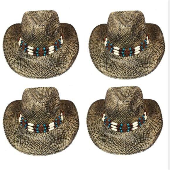 12pcs Großhandel Ausverkauf Cowboy Hut West Strohhut Strohhut Strohhut Cowgirl Herren Damen | Stabile Qualität  b1309b