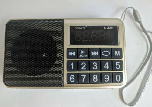 Digital Display FM Radio MP3 Player for SD Card Rechargeable Silver//Black