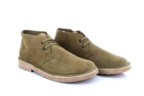 Roamers M400 Fashion Round Toe Suede Leather Lace-Up Desert Boots Camel Real Su