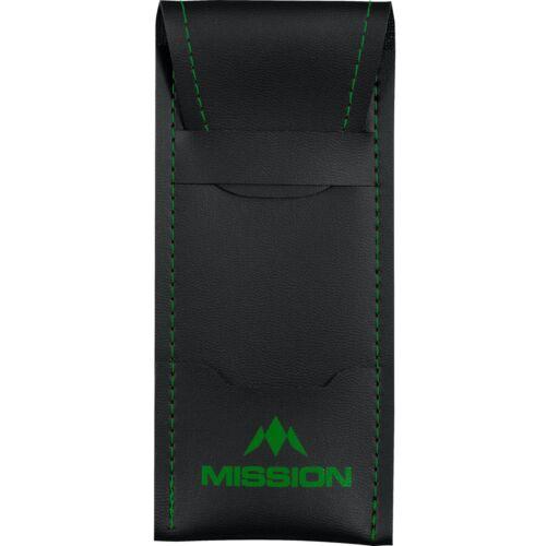 Mission Darts Bar Wallet With Sport 8 Trim Black Slimline Compact Case