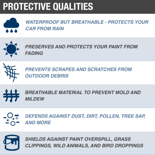 Budge Rain Barrier Car Cover Fits Kia Optima 2013WaterproofBreathable