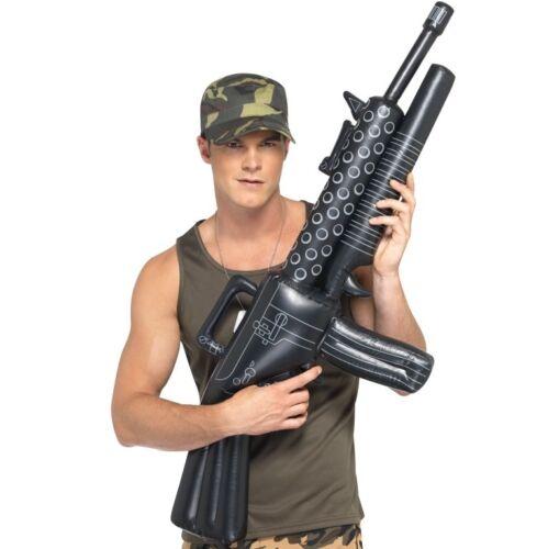 Army Fancy Dress Inflatable M16 Machine Gun 112cm New by Smiffys