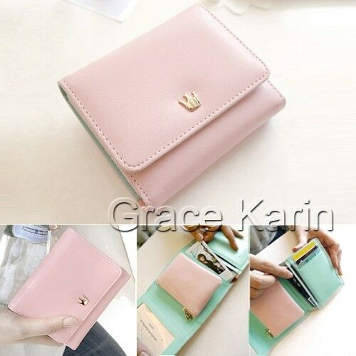 Womens Fashion PU Leather Wallet Clutch Trifold Bag coin Purse Clutch handbag