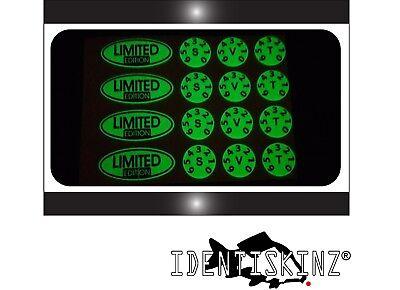 decals DELKIM TXI PLUS EV DOMED BAT KIT GLOW IN THE DARK Stickers