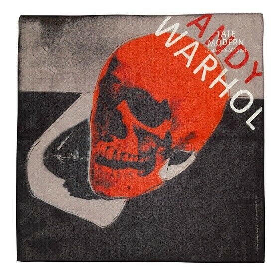 WARHOL 'SKULL' BANDANA Would Look Amazing Framed.