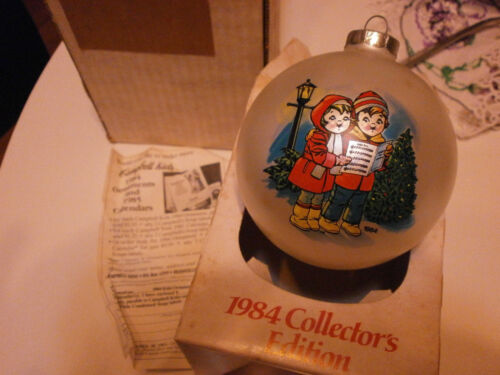 1984 Campbells Soup Kids Collectors Christmas Ornament Glass Original Box