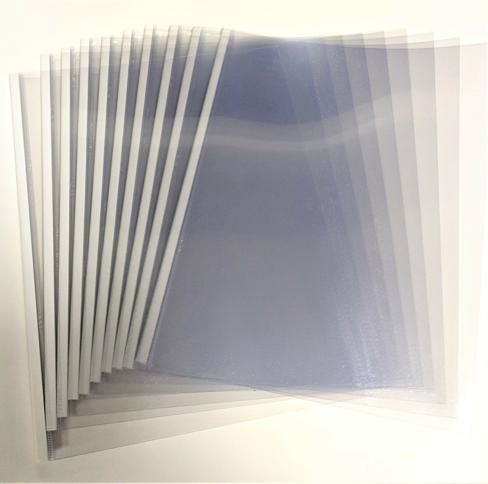 18mm White UniBind SteelCrystal Covers - 100pcs