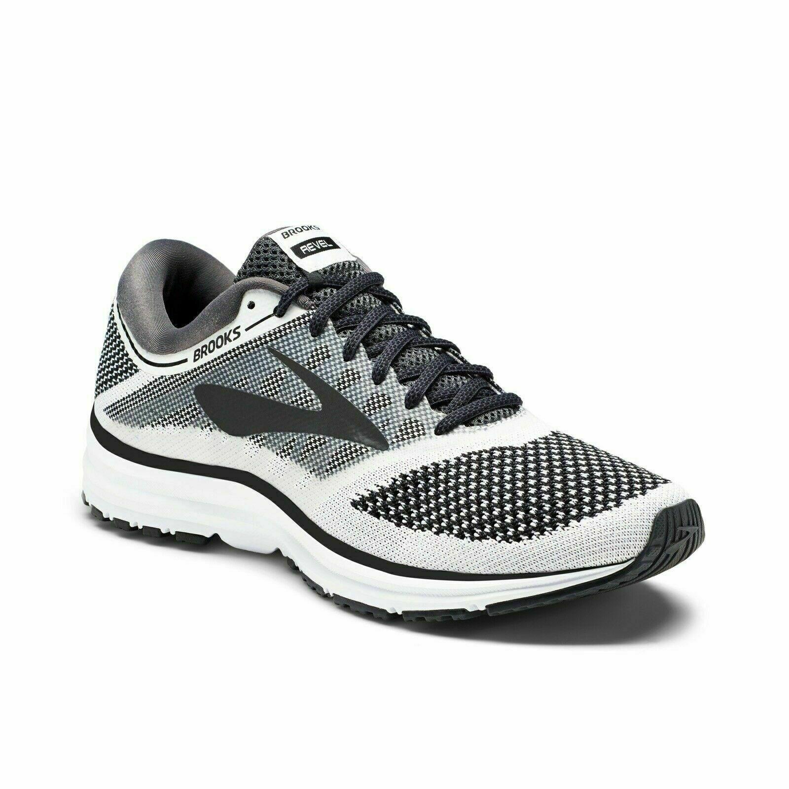 BROOKS Revel Running scarpe 1102601D155 Men's  bianca Anthracite nero