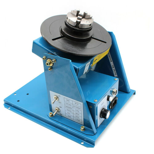 """Rotary Welding Positioner Turntable Table 2.5/"""" 3 Jaw Lathe Chuck 15W 110V 50HZ"""