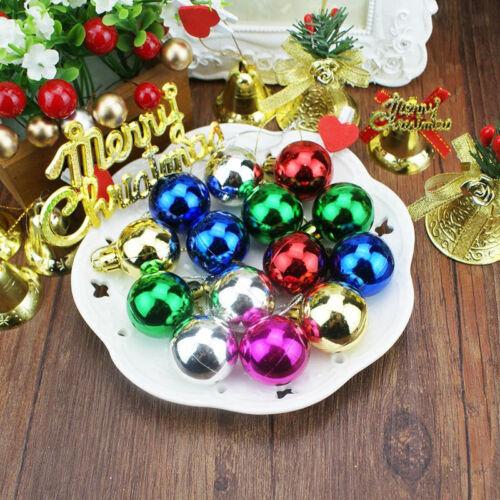 Weihnachtskugeln 12 Stück 1.18/'/' versch Farben Christbaumschmuck Galvanotec Z5D0
