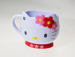 Hello Kitty Face Taza Moldeada En PVC 12 Fl.oz 350ML Sin Bpa X Microondas